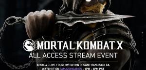 Mortal Kombat X All Access Stream Event